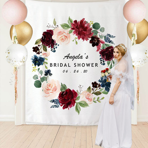 Custom Bridal Shower Backdrop - BlingPainting