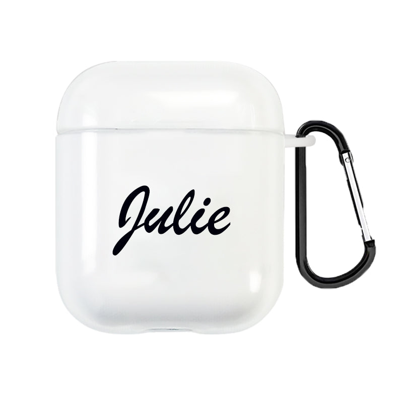 Custom Name AirPods 1&2 Case With Keychain -The Most Creative Gift