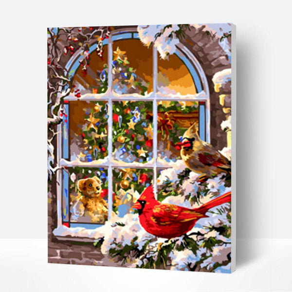 Paint by Numbers Kit -  Christmas Window - BlingPainting