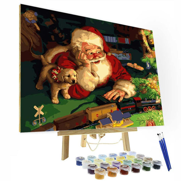 Paint by Numbers Kit - Santa Claus - BlingPainting