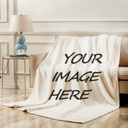 Custom Photo Blanket - personalized picture blanket - BlingPainting