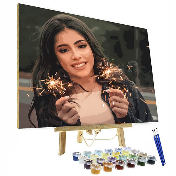 Customized paint by numbers kit - Oil Painting Portraits From Photos