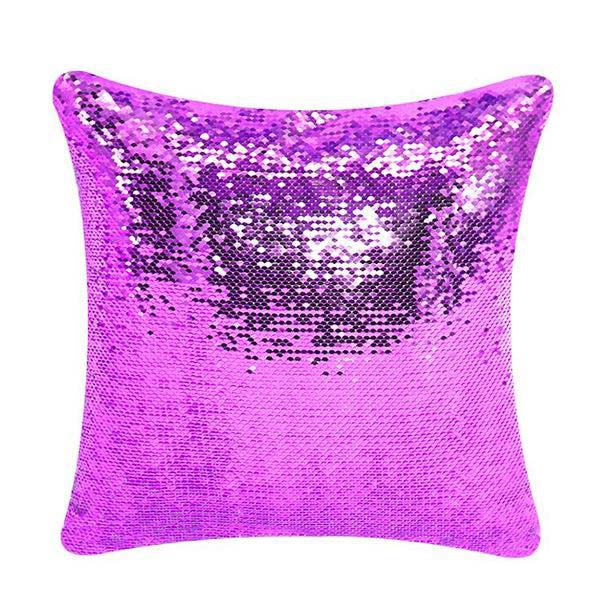 Personalized Mermaid Sequin Throw Pillows with Your Photo
