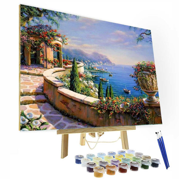 Paint by Numbers Kit - Italy Romantic Coast - BlingPainting