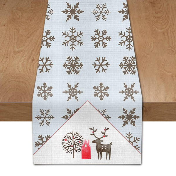 Christmas Snowflake Table Runner