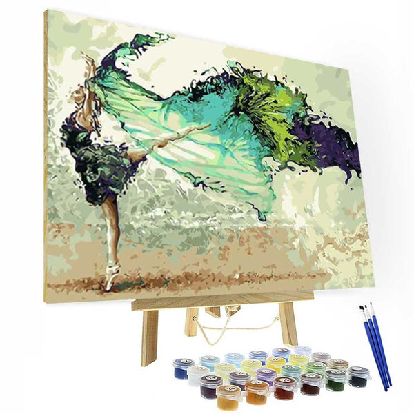 Paint by Numbers Kit - Dancing Girl - BlingPainting