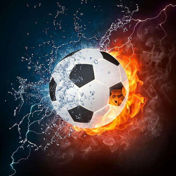Soccer ball on fire - BlingPainting