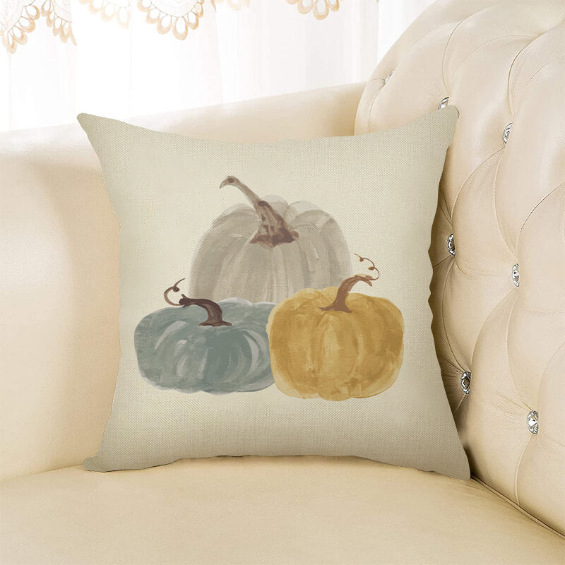 Thanksgiving Decor Pumpkin Throw Pillow H - BlingPainting