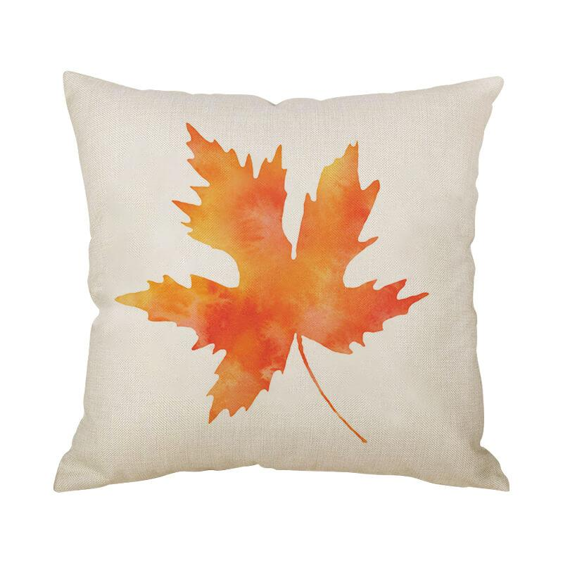 Thanksgiving Decor Leaf Throw Pillow C - BlingPainting