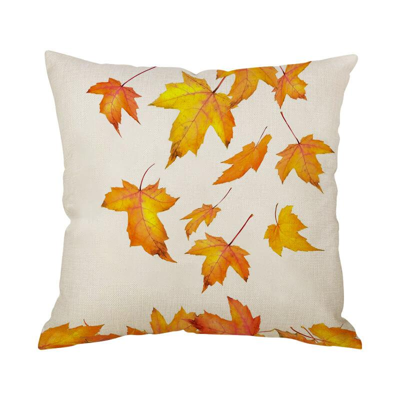 Thanksgiving Decor Leaf Throw Pillow D - BlingPainting