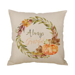 Thanksgiving Decor Wreath Throw Pillow E - BlingPainting