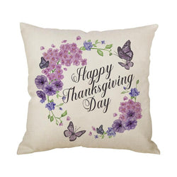 Thanksgiving Decor Wreath Throw Pillow F - BlingPainting