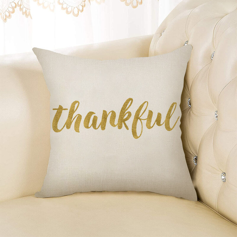Thanksgiving Decor Text Throw Pillow I - BlingPainting