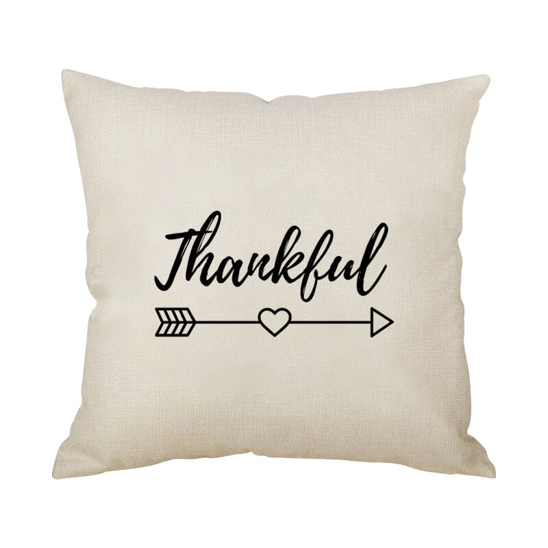 Thanksgiving Decor Text Throw Pillow K - BlingPainting