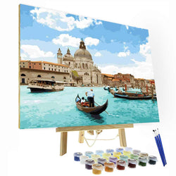 Paint by Numbers Kit - Adriatic Sea Pearl - BlingPainting