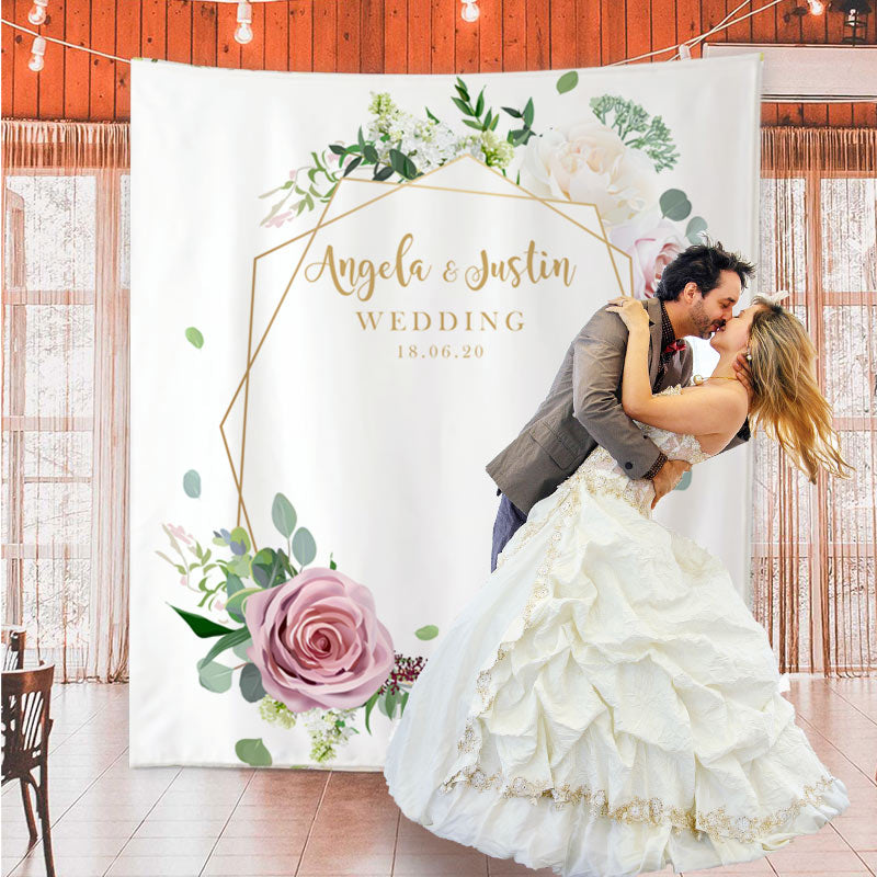 Custom Wedding Backdrop - BlingPainting