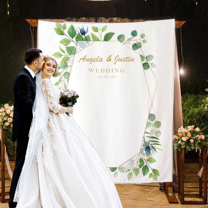 Custom Wedding Backdrop D - BlingPainting
