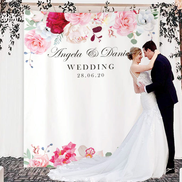 Custom Wedding Backdrop E - BlingPainting