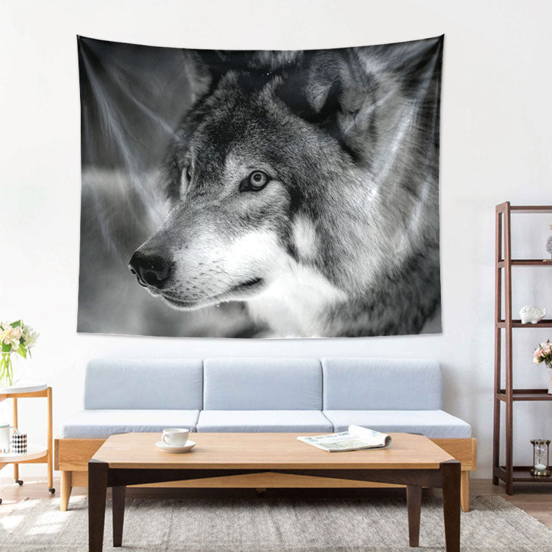 Wolf Tapestry Wall Hanging