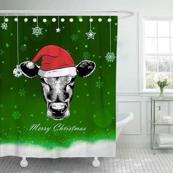 Christmas Bathroom Shower Curtains - BlingPainting