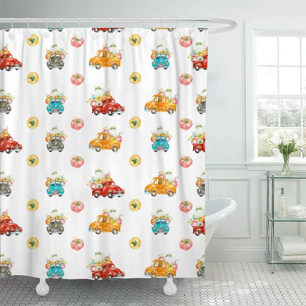 Thanksgiving Shower Curtain B - BlingPainting