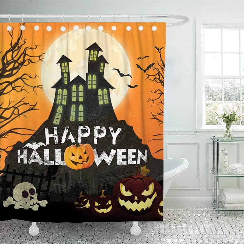 Halloween Bathroom Shower Curtains E - BlingPainting
