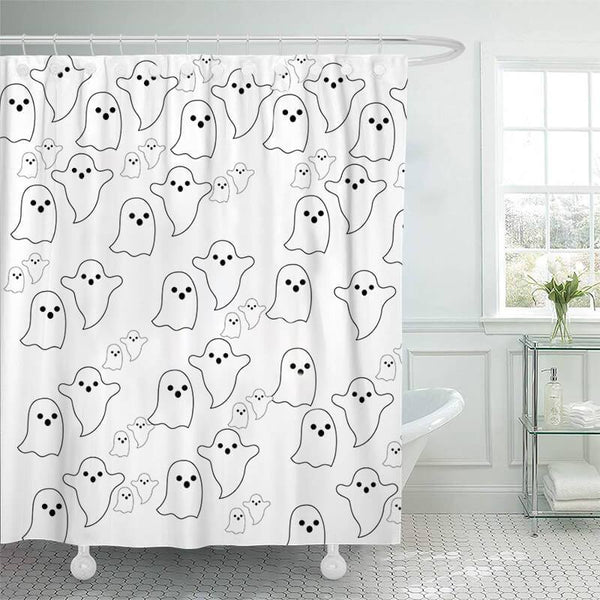 Halloween Bathroom Shower Curtains D - BlingPainting