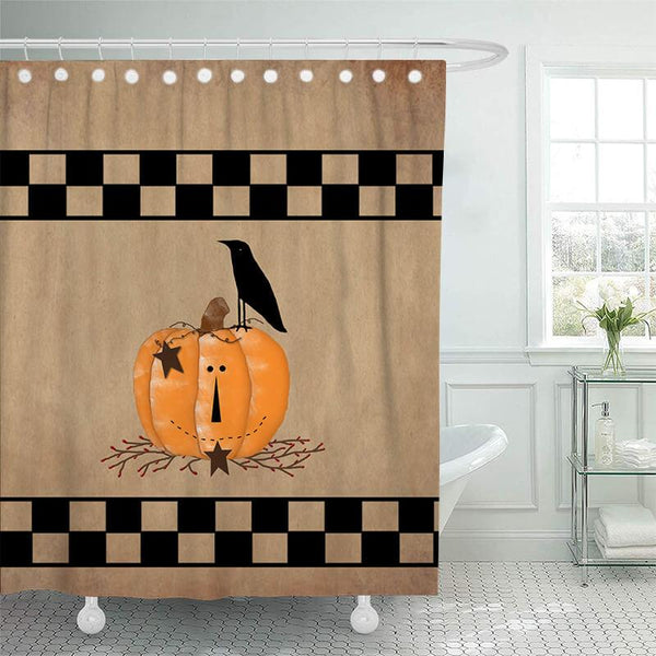 Halloween Bathroom Shower Curtains F - BlingPainting