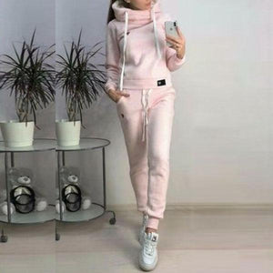 Casual Drawstring Hoodie Suits