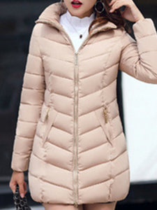 Casual Hooded Long Sleeve Patchwork Coat