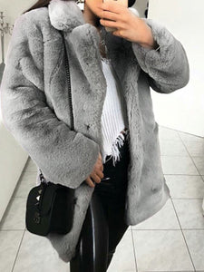 Faux Fur Long Women Warm Coat