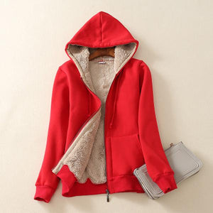 Hoodie Zipper Fleece Warm Coat
