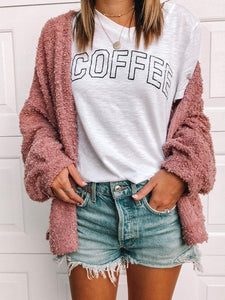 Fashion Solid Plain Long Sleeve Cardigan