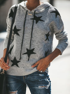Lovely Stars Wear Pullover Jumper Hooded Sweaters
