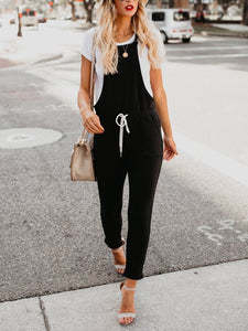 Solid Casual Plain Jumpsuits