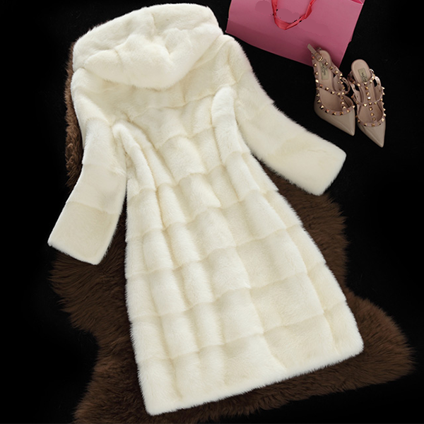 Long Thick Faux Fur Coat