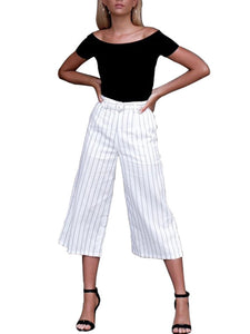 Stripes High-Rise All Season Loose Pants