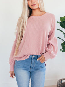 Solid Round Neck Casual Sweater