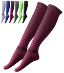Stripe Compression Socks 20-30 mmHg Anti Fatigue Support Stockings