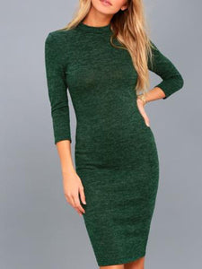 3/4 Sleeve Round Neck Casual Dress