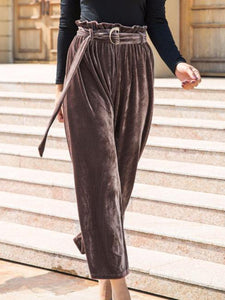 High Waist Casual Wide Leg Pants
