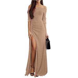 Off Shoulder Casual  Irregular Dress