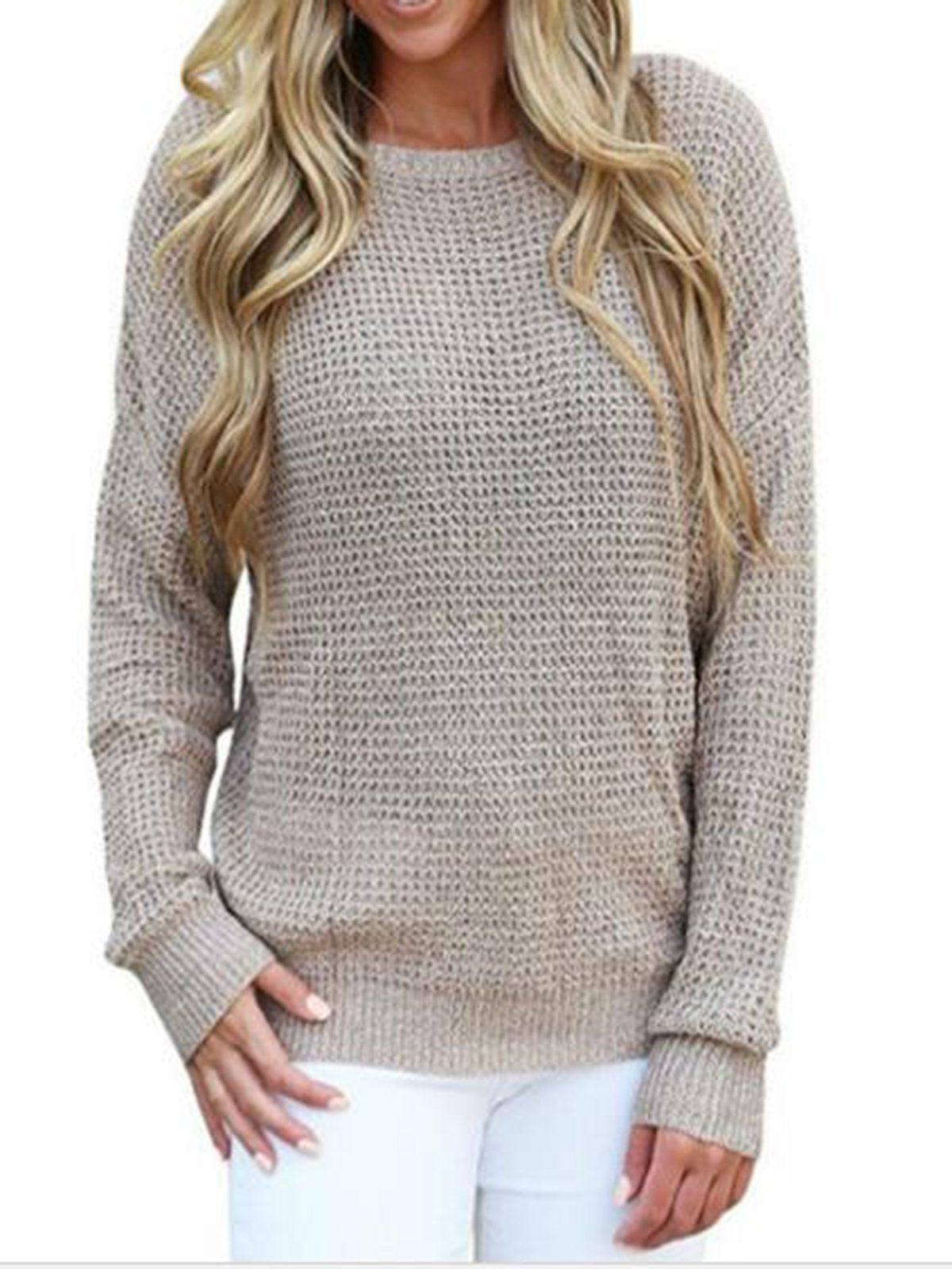 Plain Casual Large Size Sweater