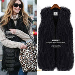 Solid Faux Fur Warm Women Winter Vest with Belt