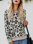 Fashion Leopard Print Knit T-Shirts