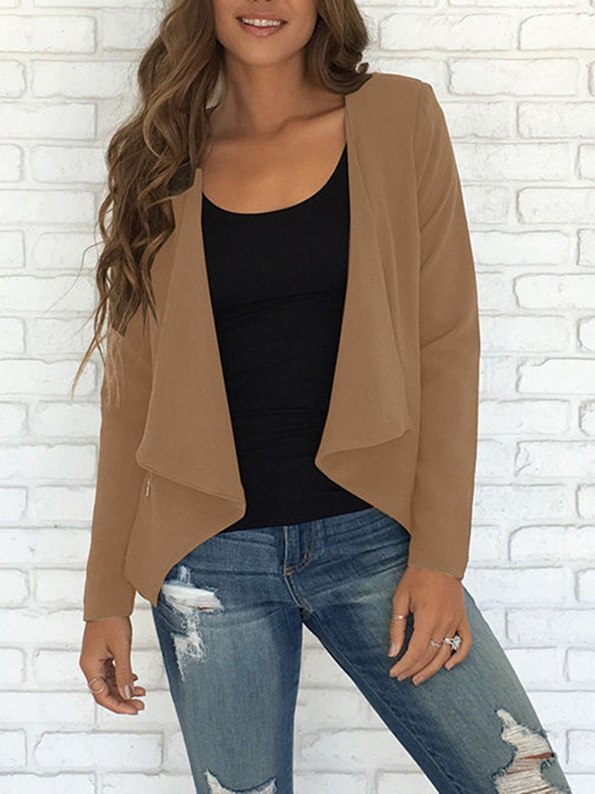 Autumn Basic Plain Jackets