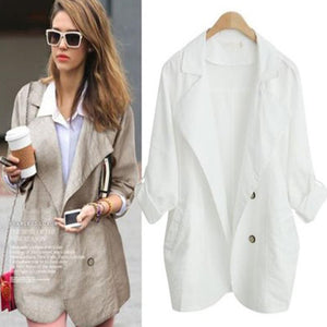 England Double Button Lapel Loose Trench Coat