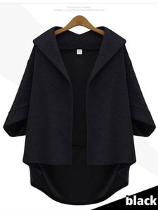 Casual Hooded Solid Coat