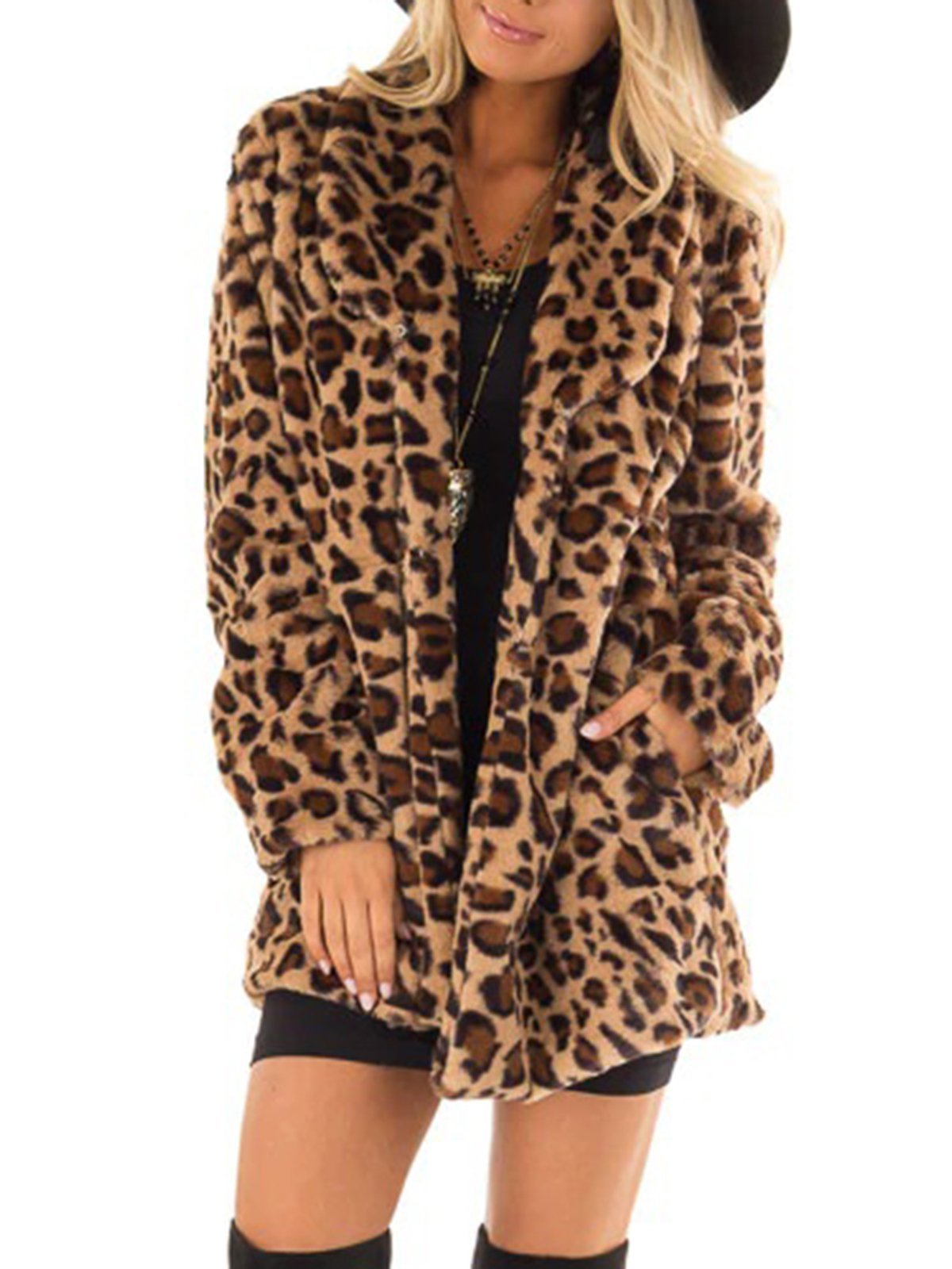 Leopard Print Teddy Bear Coats