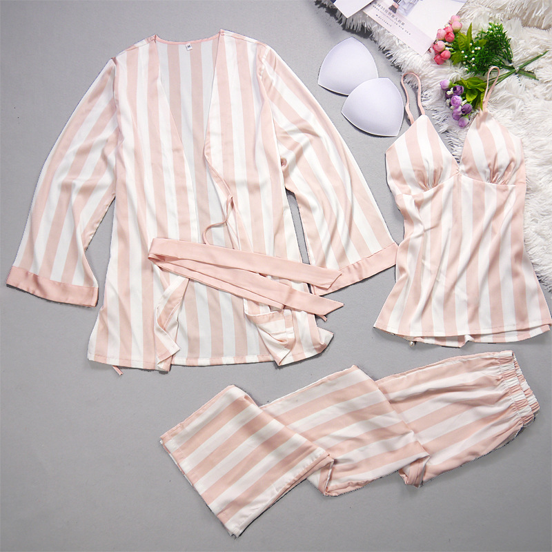 Silk Stripes Pajamas Set